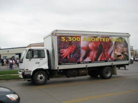 Truth Truck Will Deliver New Year's Message To Pro-life Traitor Sen. Ben Nelson - 3300 unborn children aborted daily