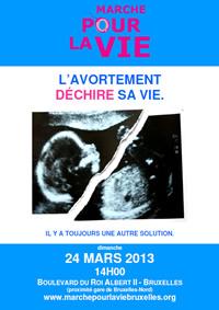 Marche pour la Vie - Bruxelles - L'avortement dechire sa vie - Il y a toujours une autre solution - MarchePourLaVieBruxelles.org
