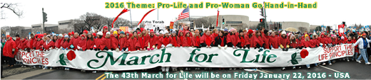 March for Life - Friday January 22, 2016 Washington, D.C., USA - MarchForLife.org